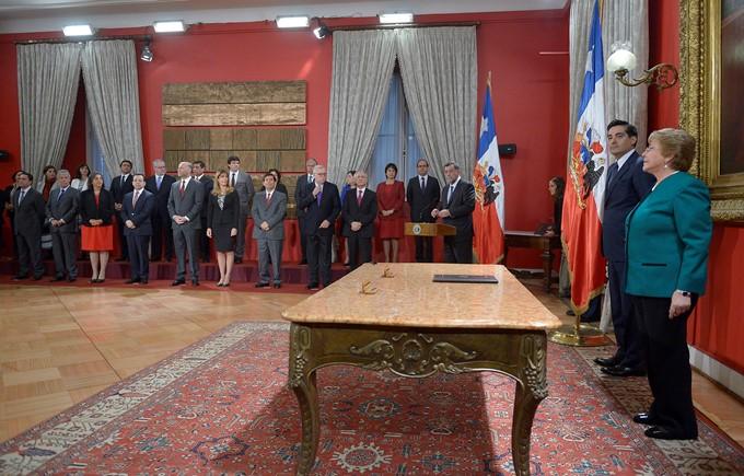 Presidenta concreta cambio de gabinete y confirma a aurora for Cambios en el ministerio del interior