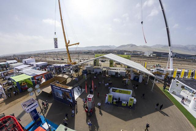En la foto, la entrada principal al recinto ferial, durante la versión anterior de Exponor, en 2015. (Foto: AIA)
