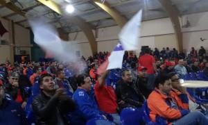 Trabajadores del sindicato de Minera Escondida, que hoy cumple su sexto día en huelga. (Foto: Sindicato N°1 de Minera Escondida)