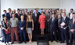 La reunión que congregó a la delegación nacional se realizó en el ministerio de Relaciones Exteriores. (Foto: Ministerio de Minería)