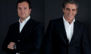 El nuevo gerente General de Joy Global en Chile, Sergio Carrera (a la izquierda), y Marcelo Villafranca, recién nombrado gerente Comercial. (Foto: Joy Global)