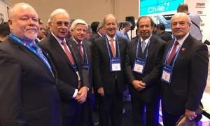 Algunos de los representantes gremiales que formaron parte de la delegación nacional que viajo a la PDAC 2017.