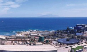 Instalaciones de Minera Escondida en Puerto Coloso, donde construye su segunda planta desalinizadora. (Foto: BHP Billiton)