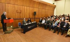 Con la presencia de profesores, alumnos e invitados, el Departamento de Ingeniería de Minas de la Universidad de Chile abrió formalmente su Año Académico 2017. (Foto: Dimin U. de Chile)