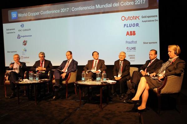 Los principales ejecutivos de las compañías mineras se dieron cita en la Conferencia Mundial del Cobre para analizar el futuro del metal rojo. (Foto: Iván Rodríguez)