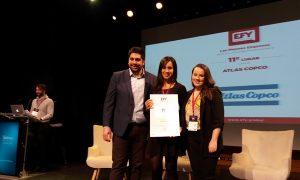 Atlas Copco es reconocida como una de las mejores empresas para jóvenes trabajadores